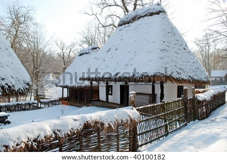Old house in winter