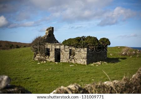 Old house, Ireland - stock photo