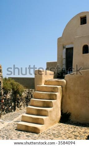 Old house on Santorini island, Greece - stock photo