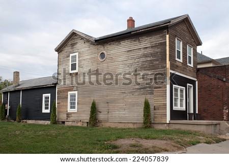 Old House Rehab in Progress - stock photo