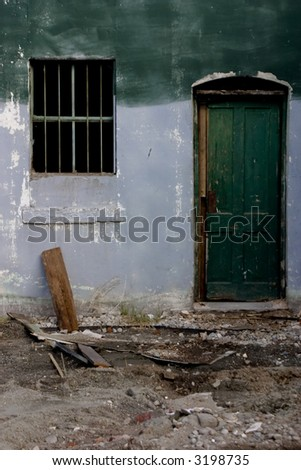 old house rubble - stock photo