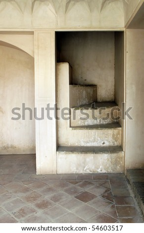 Old house staircase - stock photo