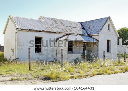 Old House That Is Falling Apart Due To Neglect