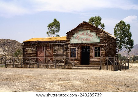 Old house, western style. - stock photo