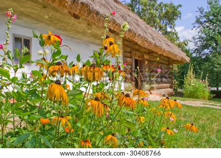 Old house with colors - stock photo