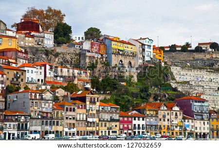 old houses in Porto / Portugal - stock photo