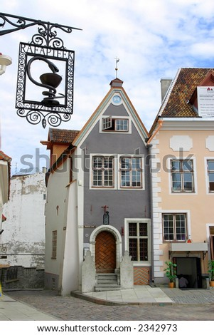 Old houses in Tallinn, Estonia - stock photo