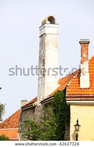 Old houses in Tallinn, Estonia EU - stock photo