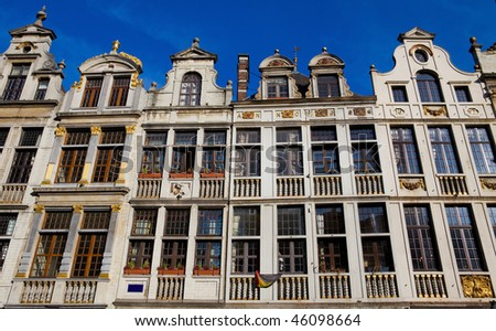 Old Houses on the Grand Place in Brussels