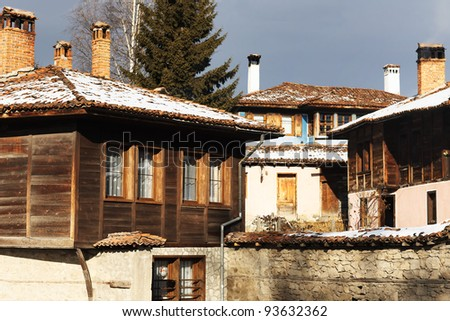 old houses view - stock photo