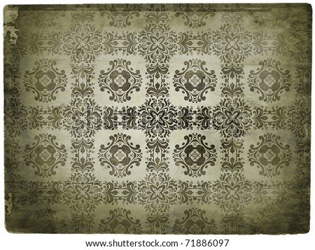 Old image of pattern - stock photo