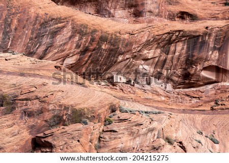 Old Indian dwellings - stock photo