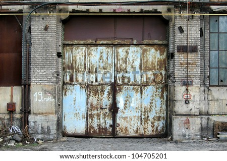 Old industrial building. - stock photo