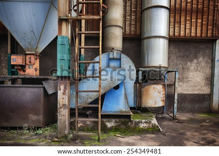 Old Industrial Building - stock photo