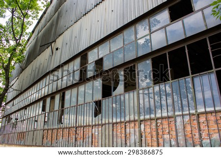 old industrial building structure - stock photo