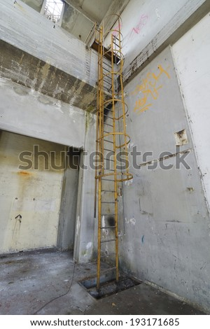 old industrial stair