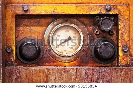 Old industrial valve - stock photo