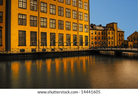 Old industry building by the water
