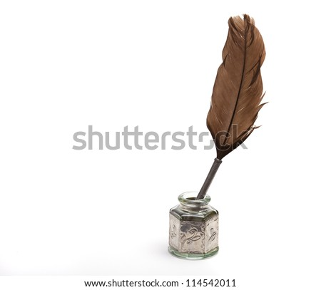 old ink pen - stock photo