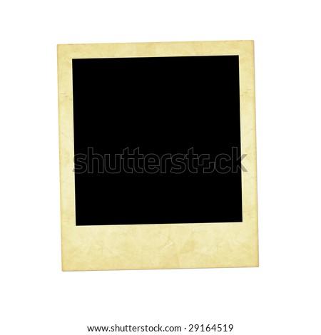 old  instant photo - stock photo