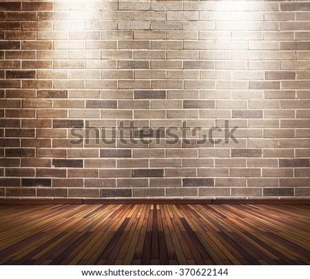 old interior room brick wall two stock photo royalty free