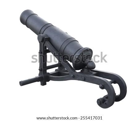 Old Iron Cannon - stock photo
