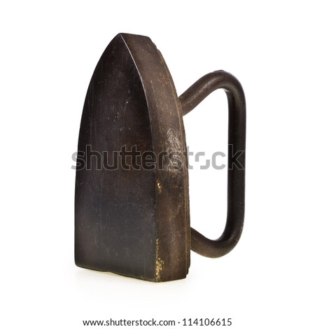 Old iron isolated on white background . - stock photo