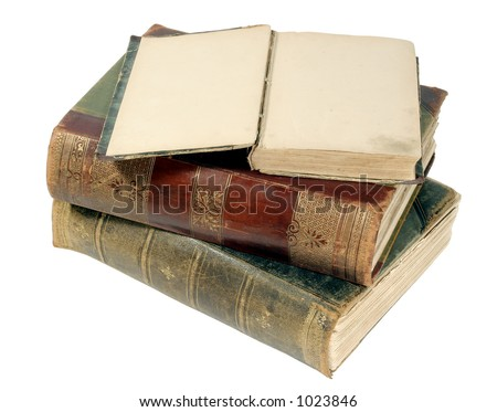old isolated books - stock photo