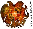 old isolated over white coat of arms of armenia - stock photo