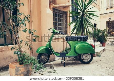 Old Italian street - stock photo