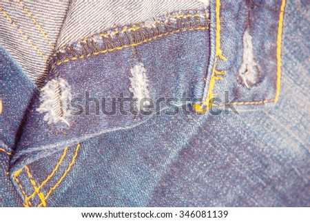 Old jeans denim pocket texture