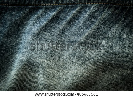 Old jeans texture background - stock photo