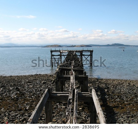 old jetty - stock photo