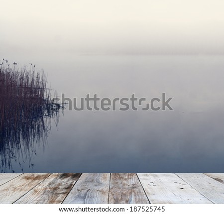 Old Jetty at Dawn - stock photo