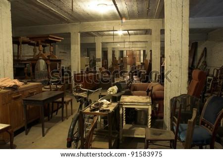 Old Junk Shop interior  - stock photo