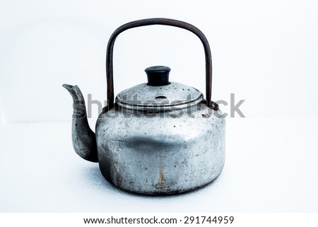 old kettle vintage - stock photo