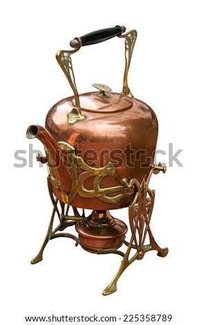Old kettle with burner - stock photo