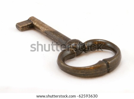 old key isolated on a white background