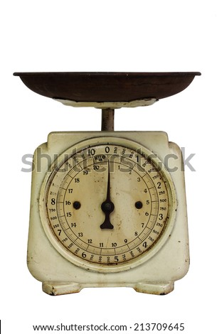Old kitchen scales - stock photo