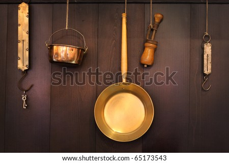 Old kitchenware - stock photo