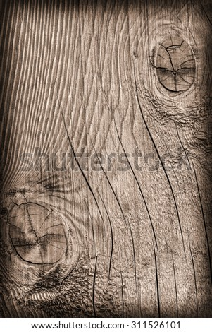 Old Knotted Wood, Weathered, Rotten, Cracked, Vignette, Grunge Texture.
