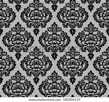 Old lace background ornamental design - stock photo