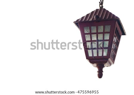 Old Lamp decorations on isolate white backgrounds