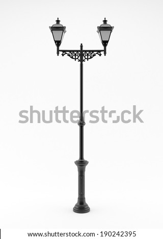 old lamp isolated on a white background