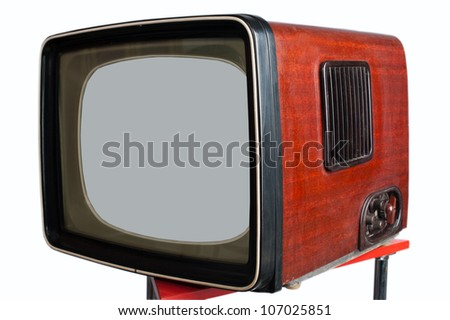 old lamp television set of the twentieth age