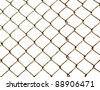 Old lattice isolated on white - stock photo
