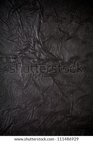 Old leather book cover, crumpled texture - stock photo