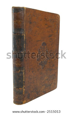 Old leather book cover with ornamental pattern