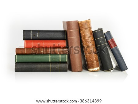 old legal books - stock photo