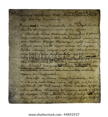 Old letter from 1811 - stock photo